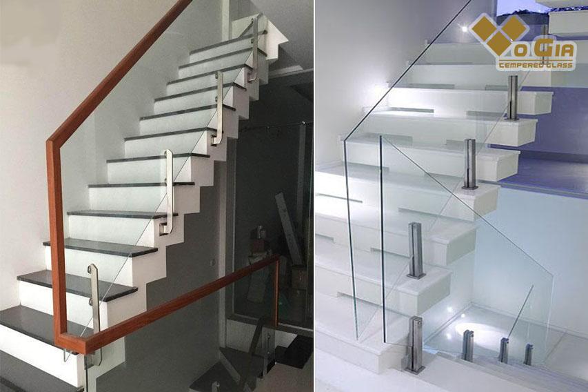 Cầu thang kính trụ lửng mang tới sự độc đáo cho không gian