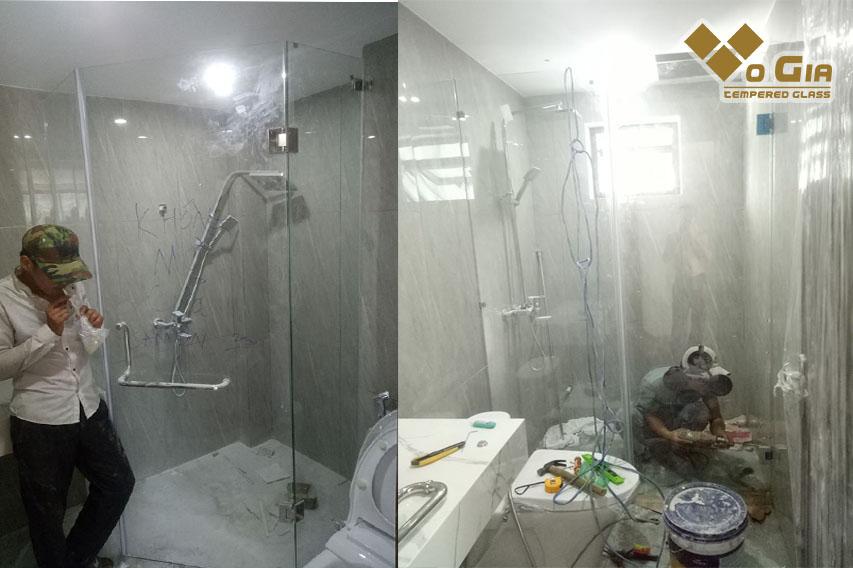 Võ Gia là đơn vị thi công lắp đặt kính cường lực nhà tắm chuyên nghiệp