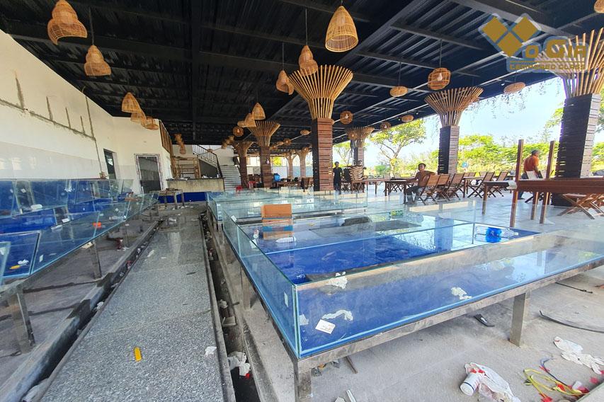 Có nhiều địa chỉ thiết kế, xây dựng hồ hải sản tại Đà Nẵng