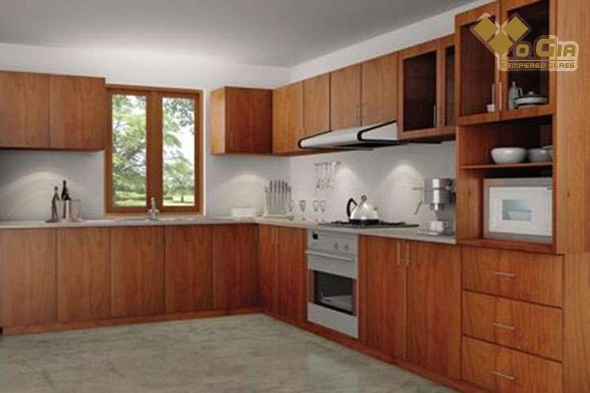 Tủ bếp gỗ Sồi Nga - Xoan Đào