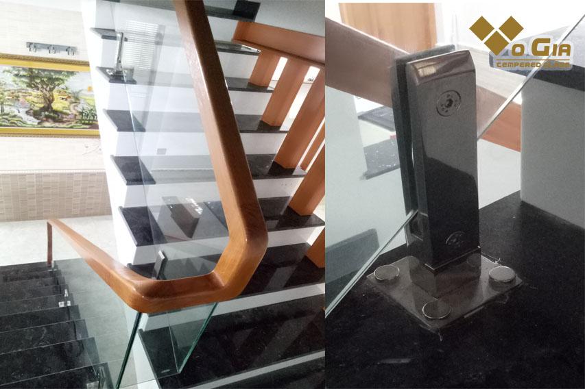cầu thang trụ trên bậc