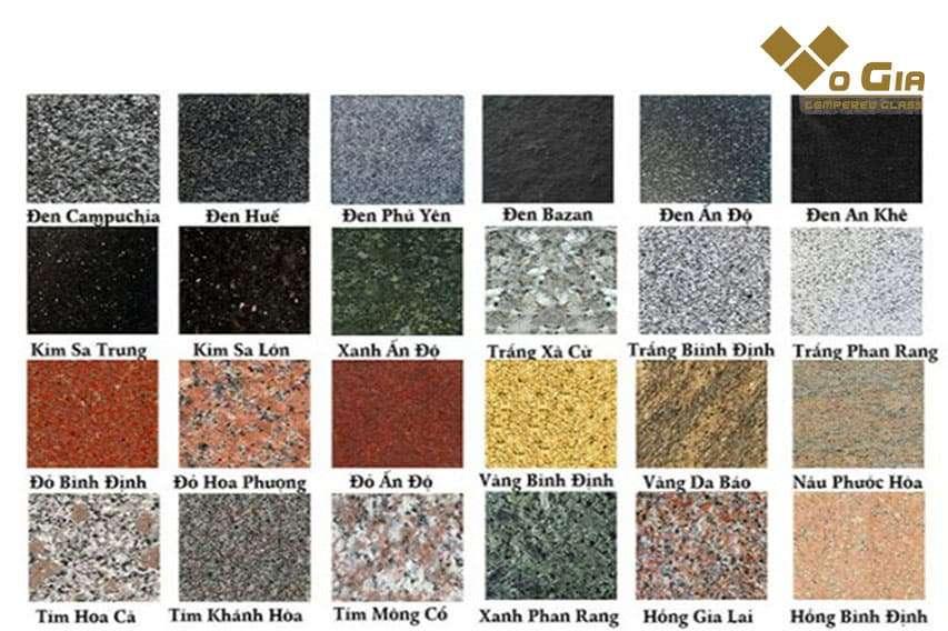 Đá Granite có nhiều mẫu mã đa dạng