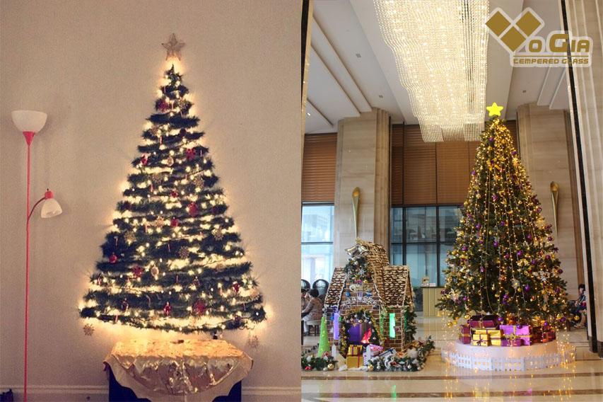 Mô hình trang trí cây thông Noel lấp lánh thu hút