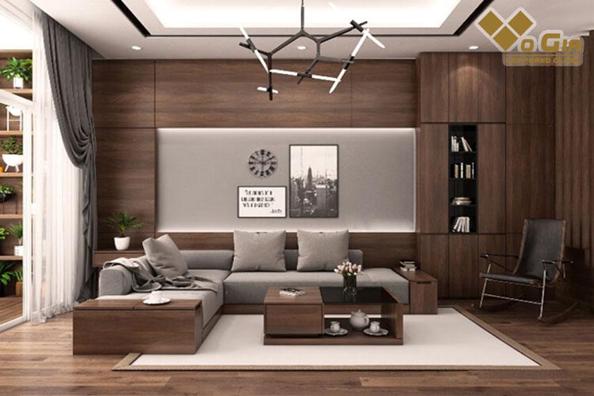 Nội thất được thiết kế theo xu hướng gỗ công nghiệp