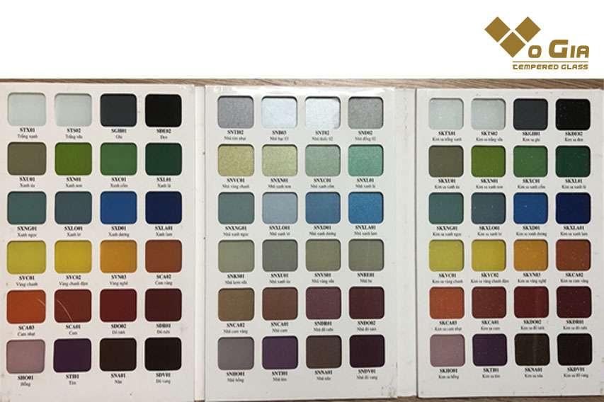 Sự đa dạng về màu sắc trong quy cách sản xuất