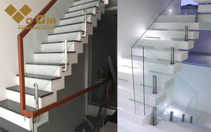 Cầu thang kính có độ bền cao, đẹp mắt và tăng diện tích không gian