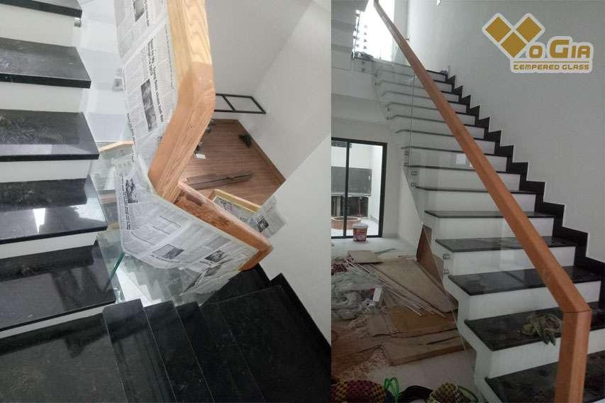 Không gian ngôi nhà trở nên rộng mở, thoáng đãng hơn rất nhiều khi lắp đặt cầu thang kính